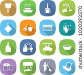 flat vector icon set   tooth... | Shutterstock .eps vector #1020393370