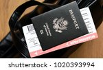 united states passport and... | Shutterstock . vector #1020393994