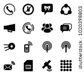 solid vector icon set   phone... | Shutterstock .eps vector #1020398803