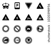 solid vector icon set   airport ... | Shutterstock .eps vector #1020398956