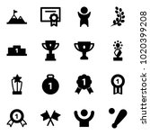 solid vector icon set  ... | Shutterstock .eps vector #1020399208