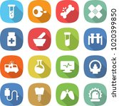 flat vector icon set   vial... | Shutterstock .eps vector #1020399850
