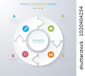 infographic elements with... | Shutterstock .eps vector #1020404254