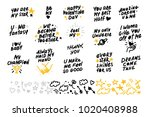 collection of hand made... | Shutterstock . vector #1020408988
