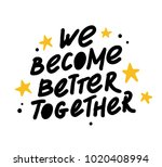 hand made lettering love quote...   Shutterstock . vector #1020408994