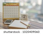 notebook with pencil diary... | Shutterstock . vector #1020409060