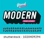 slanted 'modern' vintage 3d... | Shutterstock .eps vector #1020409294