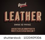 """leather"" vintage 3d premium... 