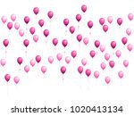 balloons group isolated vector... | Shutterstock .eps vector #1020413134