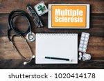stethoscope  eyeglass  blank... | Shutterstock . vector #1020414178
