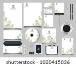 corporate identity business set | Shutterstock .eps vector #1020415036