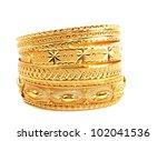 Golden Bracelets   Isolated On...