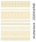 set of vector border ornaments... | Shutterstock .eps vector #1020416968