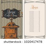 vector menu for coffee house... | Shutterstock .eps vector #1020417478