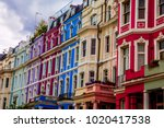 typical colorful houses of...   Shutterstock . vector #1020417538