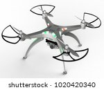 3d illustration of a drone with ... | Shutterstock . vector #1020420340