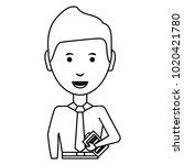 cartoon businessman icon | Shutterstock .eps vector #1020421780
