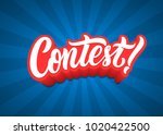 contest lettering text banner. | Shutterstock . vector #1020422500