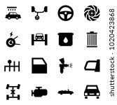 origami style icon set   car... | Shutterstock .eps vector #1020423868