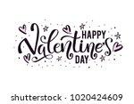 happy valentine's day card ... | Shutterstock .eps vector #1020424609