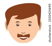 cartoon man face icon | Shutterstock .eps vector #1020424690