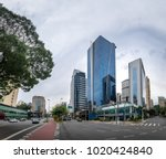 builidings at faria lima avenue ... | Shutterstock . vector #1020424840