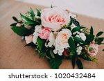 flower arrangement at the...   Shutterstock . vector #1020432484