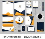 corporate business stationery... | Shutterstock .eps vector #1020438358