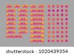 pixel art bright buttons....   Shutterstock .eps vector #1020439354