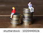 gender pay equality concept.... | Shutterstock . vector #1020440026