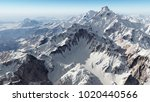 mountain panorama computer... | Shutterstock . vector #1020440566