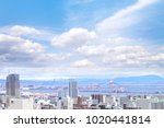 cityscapes of kobe city with... | Shutterstock . vector #1020441814