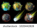 stages of earth death  climate... | Shutterstock .eps vector #1020442828
