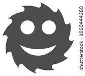 circular blade happy smiley... | Shutterstock .eps vector #1020444280