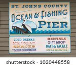 saint johns county ocean  ... | Shutterstock . vector #1020448558