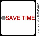 3d clock save time concept in... | Shutterstock . vector #1020454480