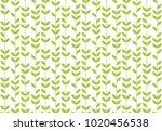 Green Leaf Geometric Vintage...