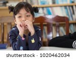happy little asian girl having... | Shutterstock . vector #1020462034