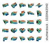 south africa flag  vector...   Shutterstock .eps vector #1020463540
