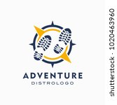 world adventure and expedition... | Shutterstock .eps vector #1020463960