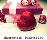 love valentine's day gift box... | Shutterstock . vector #1020465130