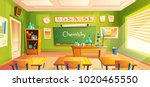 vector chemistry room  school... | Shutterstock .eps vector #1020465550