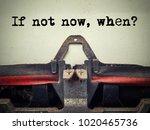 if not now when vintage... | Shutterstock . vector #1020465736