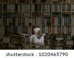 frustrated senior office worker ...   Shutterstock . vector #1020465790