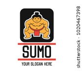 sumo logo with text space for... | Shutterstock .eps vector #1020467398