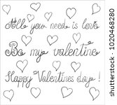 vector ink valentine day... | Shutterstock .eps vector #1020468280