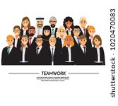 business people teamwork ... | Shutterstock .eps vector #1020470083