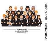 business people teamwork ...   Shutterstock .eps vector #1020470086