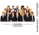 business people teamwork ... | Shutterstock .eps vector #1020470089