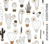 seamless pattern with... | Shutterstock .eps vector #1020470488